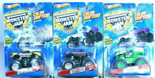 Hot Wheels Monster Jam GRAVE DIGGER - GRINDER - KING KRUNCH 30th Anniversary