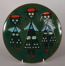 Patricia Fisher Enamel Plate Three Women 1958 Mid Century Modern Eames Era
