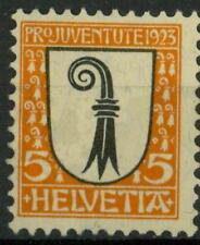 "SWITZERLAND - SVIZZERA - 1923 - ""Pro Juventute"". Stemmi cantonali: Basilea camp."