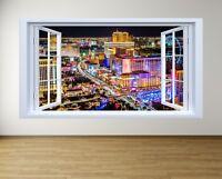 Iconic Las Vegas Photo 3D Window View Poster Print Wall Art Decoration