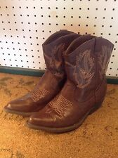 Womens SO ankle Brown cowboy western boots US Size 6.5 M