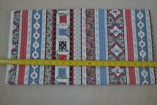 By 1/2 Yd, Calico & Stripes on Cream Quilting Cotton, Wamsutta, M7550