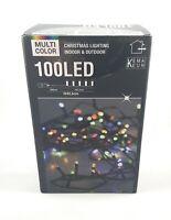 Multicolor Weihnachts Lichterkette 100 LED 10m lang für Innen Aussen
