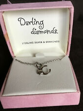 Darling Diamonds sterling silver necklace with pendant C With Flower #1