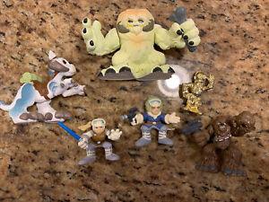 Playskool Star Wars Galactic Heroes Lot Luke Chewy Wampa Tauntaun Han CP3O