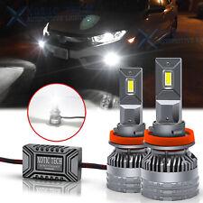 6500k White H11 H8 H9 LED Headlight Fog Light Bulb with Fan Lamp 130W ERROR FREE