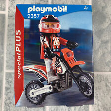 Playmobil 9357 Especial Plus Motocross Bicicleta y jinete. Stocking Relleno
