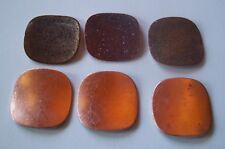 24X Copper Blanks for enameling use- SQUARE shape-COUNTER ENAMELED