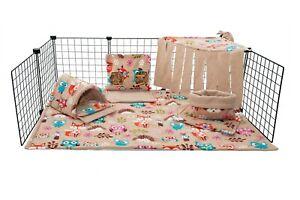 C&C fleece cage liner set, guinea pig, small animals, woodland.