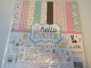 Echo Park Hello Easter 12x12 Collection kit  Spring Bunny  Cards Scrapbooks