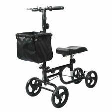 ELENKER Steerable Knee Walker Deluxe Medical Scooter - Black