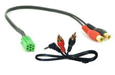 Renault AUX input lead Espace Trafic Scenic Twingo 3.5mm jack RCA iPod adapter z