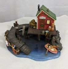 Holiday Time Bait Shop fish Blue Waters Collection 2005 cabin Christmas lake