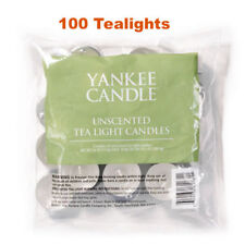 Yankee candle unscented Tealights 4 x  Bags of 25