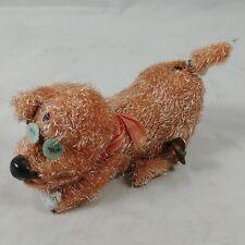 dc Vintage Windup Tin Toy Happy Doggie Dog Eating Bone Japan - SEE VIDEO