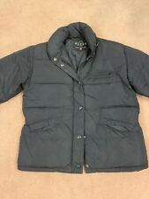 Womens Guess Down Bomber Jacket Coat Black Size Small Very Warm Winter Coat