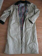 Misty Harbor Size Small Tan/Black Rain Coat Plaid Flannel Quilt Lining-Nice!!