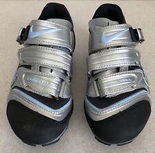 NIKE 275245 YVR Plus Womens Mountain Cycling Shoes Silver 5.5 US Shimano w/Cleat