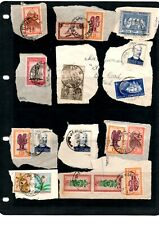 Belgian Congo -  58 used stamps on paper - 4 scans