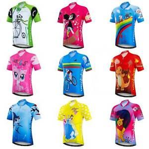 Kids' Reflective Cycling Jersey Short Sleeve Bike Cycle Jersey Shirts Unisex