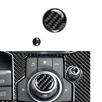 Carbon Fiber Function Button Volume Knob Trim Replacemnt Fits Mazda3//6 CX-9 CX-5