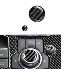 Fit For Mazda 3 6 CX-5 CX-9 2017 2018 Carbon Fiber Knob Volume Button Cover Trim