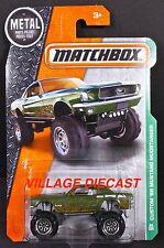 2016 Matchbox #94 '68 Custom (Ford) Mustang Mudstanger MATTE GREEN/MOC