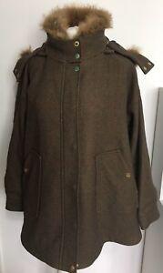 BNWT Joules Carolyn Swing Field Coat Green Tweed - Size XS- RRP £269