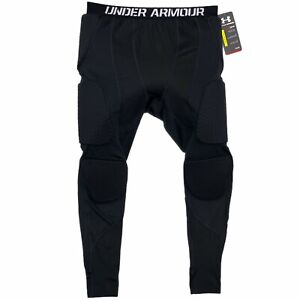 Under Armour Basketball Padded Tights Size Large Black Heatgear 1265065-001