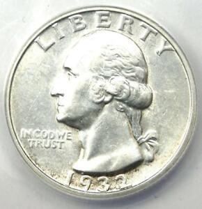 1932-S Washington Quarter Silver 25C Coin - ANACS AU58 Details - Key Date!