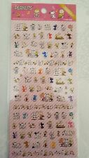 Peanuts Snoopy Stickers Tiny Clear Dance