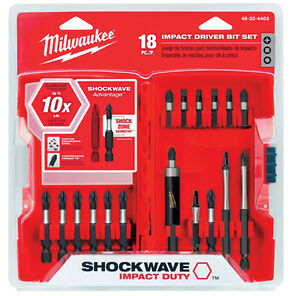 Milwaukee 48-32-4403 18 Piece Shockwave Impact Driver Bit Set New