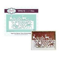 Christmas Metal Die Cut Merry Edger Creative Expressions Cutting Dies CEDPC1083