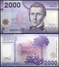 Chile 2,000 (2000) Pesos, 2009, P-162, UNC, Polymer