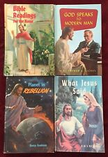 4 Christian Books with Jesus Christ on the Cover Inspirational Bible Study Aids