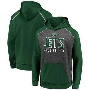 *NWT* Fanatics Men's New York Jets Game Day Ready Chiller Fleece Raglan Hoodie S