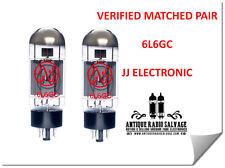 (2x) NEW 6L6GC JJ / Tesla Audio Output Tubes - VERIFIED MATCHED PAIR