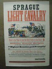 SPRAGUE LIGHT CAVALRY AD PRINT VINTAGE POSTER BAR GARAGE U.S. ARMY CNG1358