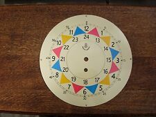 """Raf sector clock dial face fusee clock 10"""" HAND PAINTED SOLID 2 MM STEEL NOT TIN"""