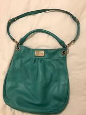 Women's Marc by Marc Jacbos Turquoise Leather Classic Q Hillier Hobo Purse
