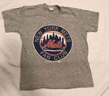 Vintage Boys New York Mets Fan Club Gray T-Shirt - Size Medium M