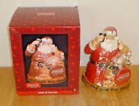 Coca-Cola Santa Claus The Gift For Thirst Cookie Jar w/ Box Mint! (Looks Unused)