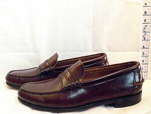 Vintage Florsheim Burgundy Size UK 10 to 10.5 Men's Leather Slip On Shoes