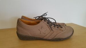 Theresia M by NAOT 6.5 Brown Leather Sneakers Lace up Cimfort Shoes Rrp $239