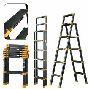 1.7M Portable Heavy Duty Multi-Use Aluminium Telescopic Ladder Extendable UK