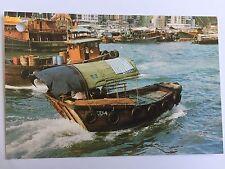 Hong Kong Sampan Ride Boat 4x6 postcard A38