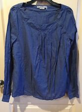 To The Max Long Sleeve Blouse Size XL Blue