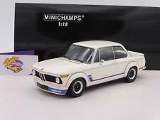 """Minichamps 155026200 # BMW 2002 Turbo (E20) Baujahr 1973 """" weiß-blau-rot """" 1:18"""