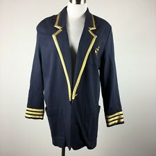 Outlander womens blazer size L navy salor theme gold anchor costume shoulder pad