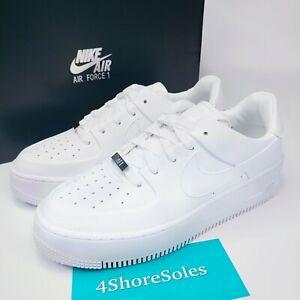 NEW Nike Women's SIZE 7 Air Force 1 Sage Low AF1 TRIPLE WHITE AR5339 100 NIB